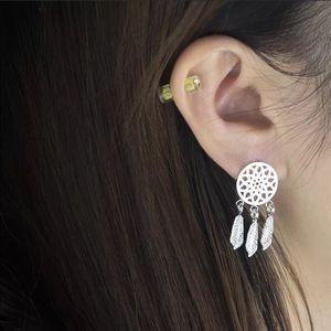 GirlyGoth Co Jewelry - 💖Silver dream catcher earrings, brand new‼️